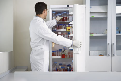 How a laboratory refrigerator is different from a household refrigerator?