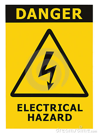 danger-electrical-hazard-sign-text-isolated-16813852