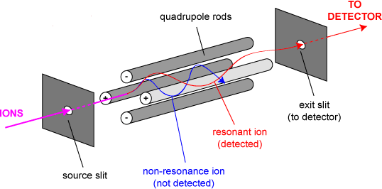 Quadrupole-Mass-analyzer-assembly