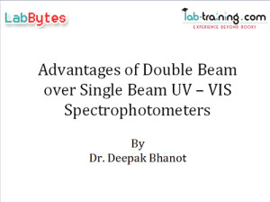 Double Beam Advantages Over Single Beam Spectrophotometers