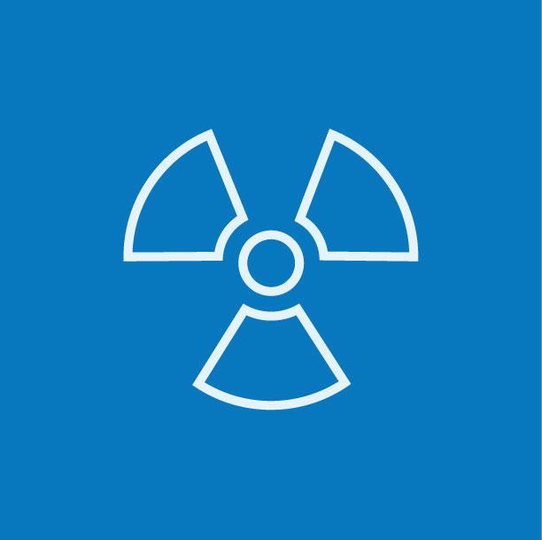 Ionizing radiation warning sign