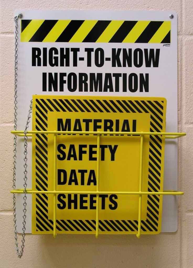 Importance of Material Safety Data Sheets in Laboratories and Warehouses