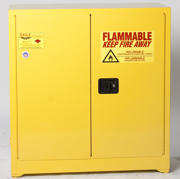 Safety cabinet for storage of Flammable solvents