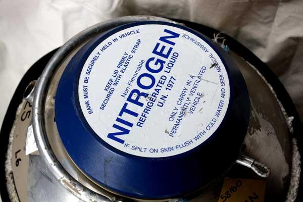 Liquid Nitrogen filled Dewar