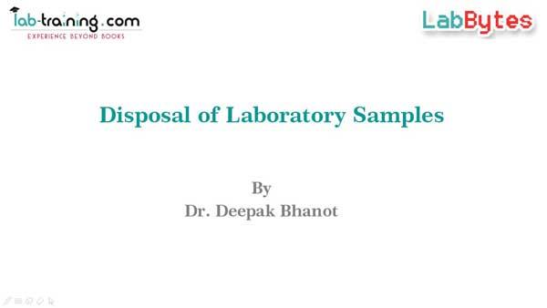 Disposal of Laboratory Samples