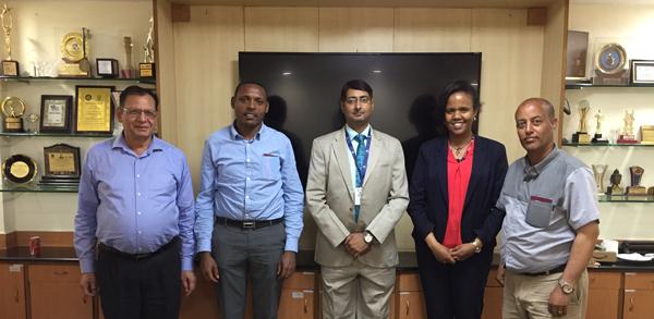 (Left to Right ) Dr. Deepak Bhanot, Mr. Gezahegn Endale Setegn, Mr. Manish Ranjan, Ms. Heran Gerba Borta and Mr. Seyoum Wolde Kere
