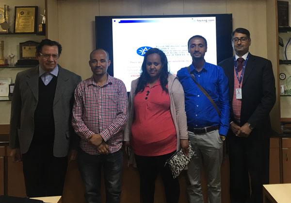 Dr Deepak Bhanot, Mr Henok Silesh Melakui,Ms Rahel Atakltie Molla and Mr Betre Getahun Mitiku