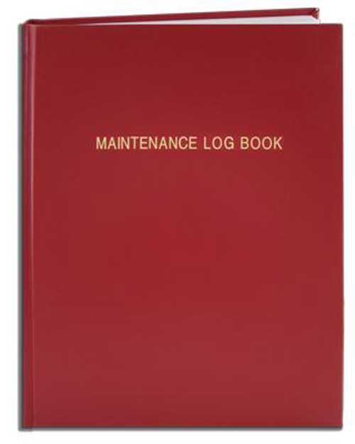 Laboratory Instrument Maintenance Log Book