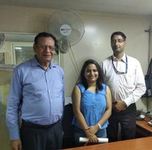 Kavita with Dr Deepak Bhanot and Mr Manish Ranjan